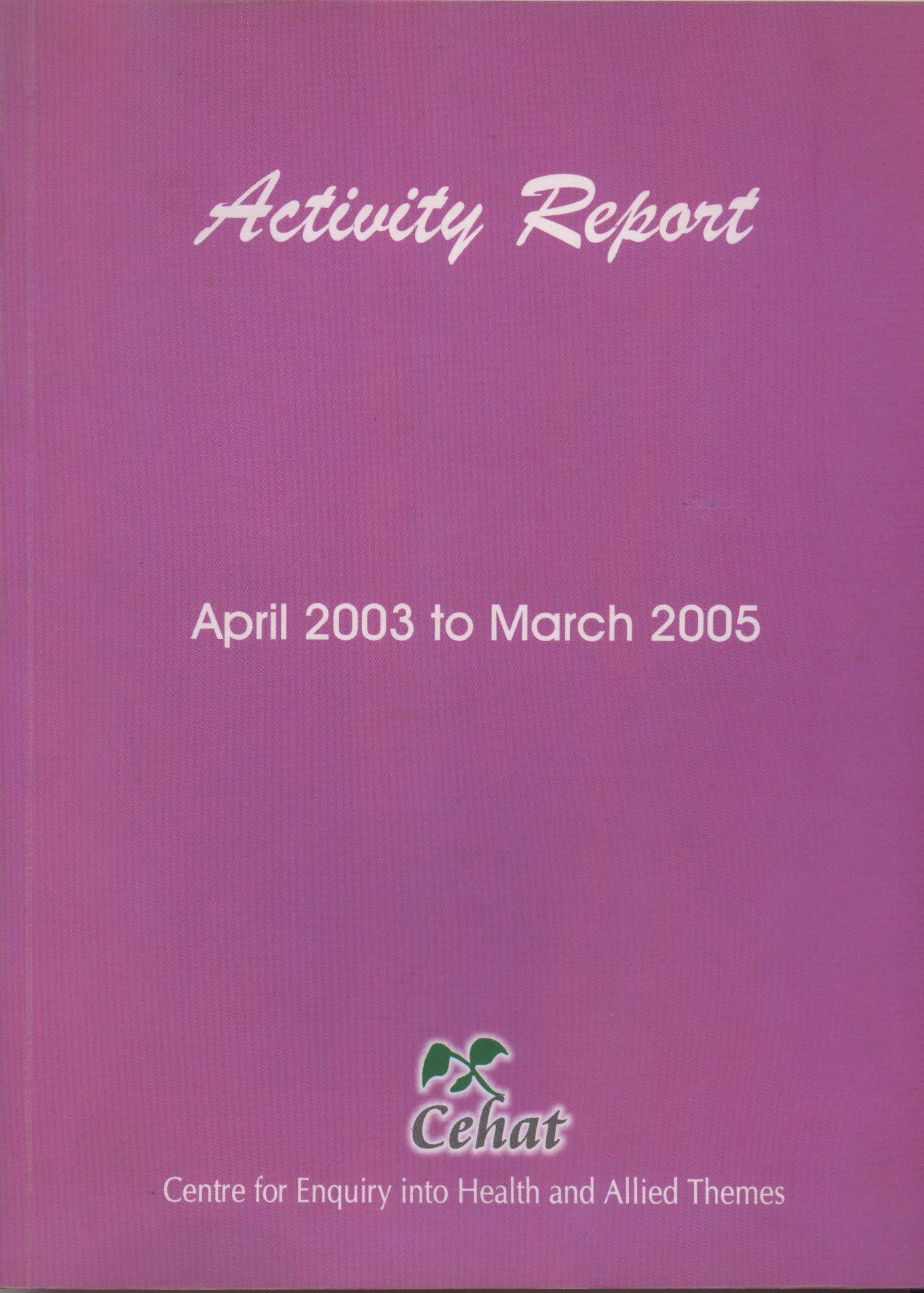 April 2003-March 2005